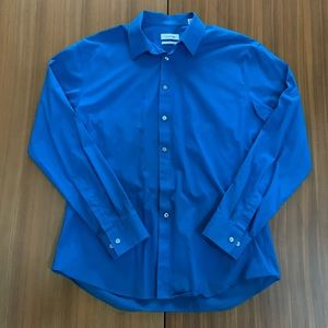 Calvin Klein Slim Fit Royal Blue Button Down